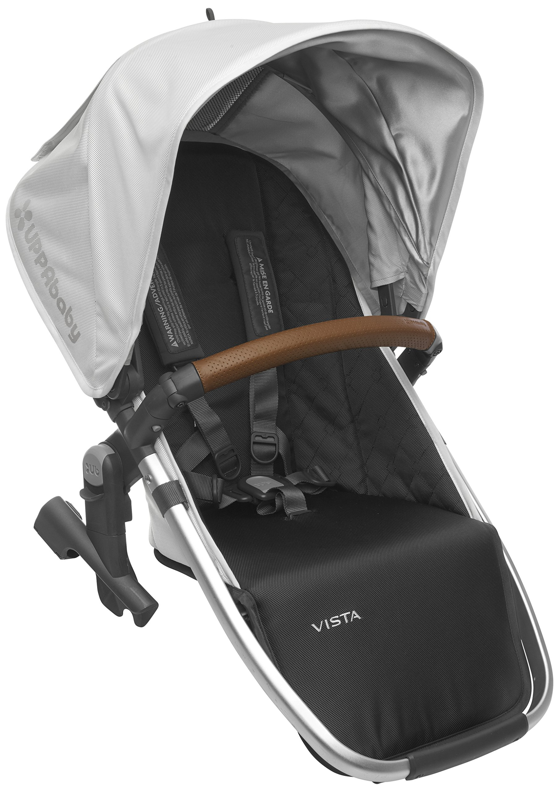2018 UPPAbaby Vista RumbleSeat - Loic (White/Silver/Saddle Leather) by UPPAbaby
