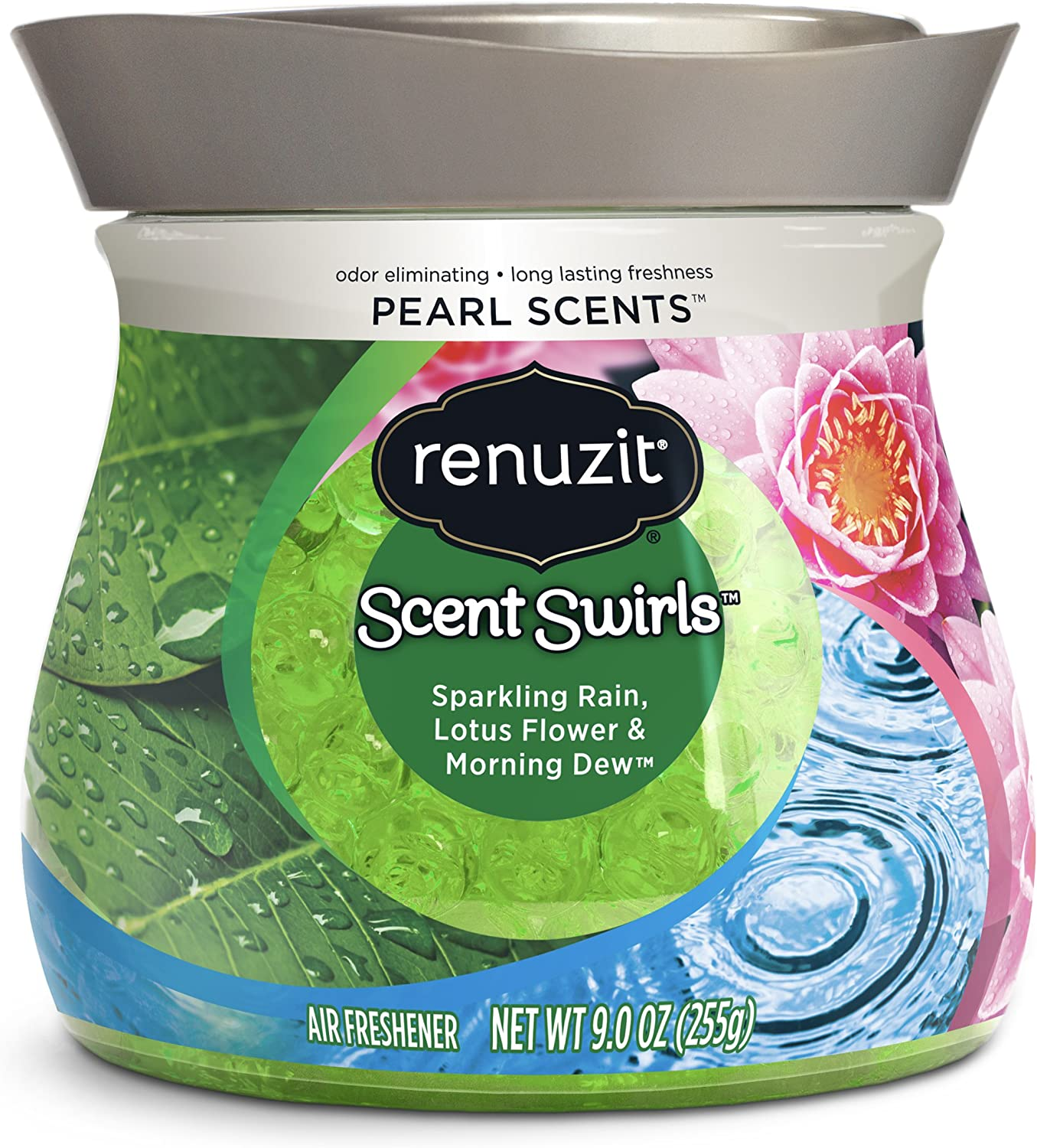 Renuzit Pearl Scents Air Freshener, Sparkling Rain, Lotus Flower & Morning Dew, 9 Ounces (Packaging May Vary)