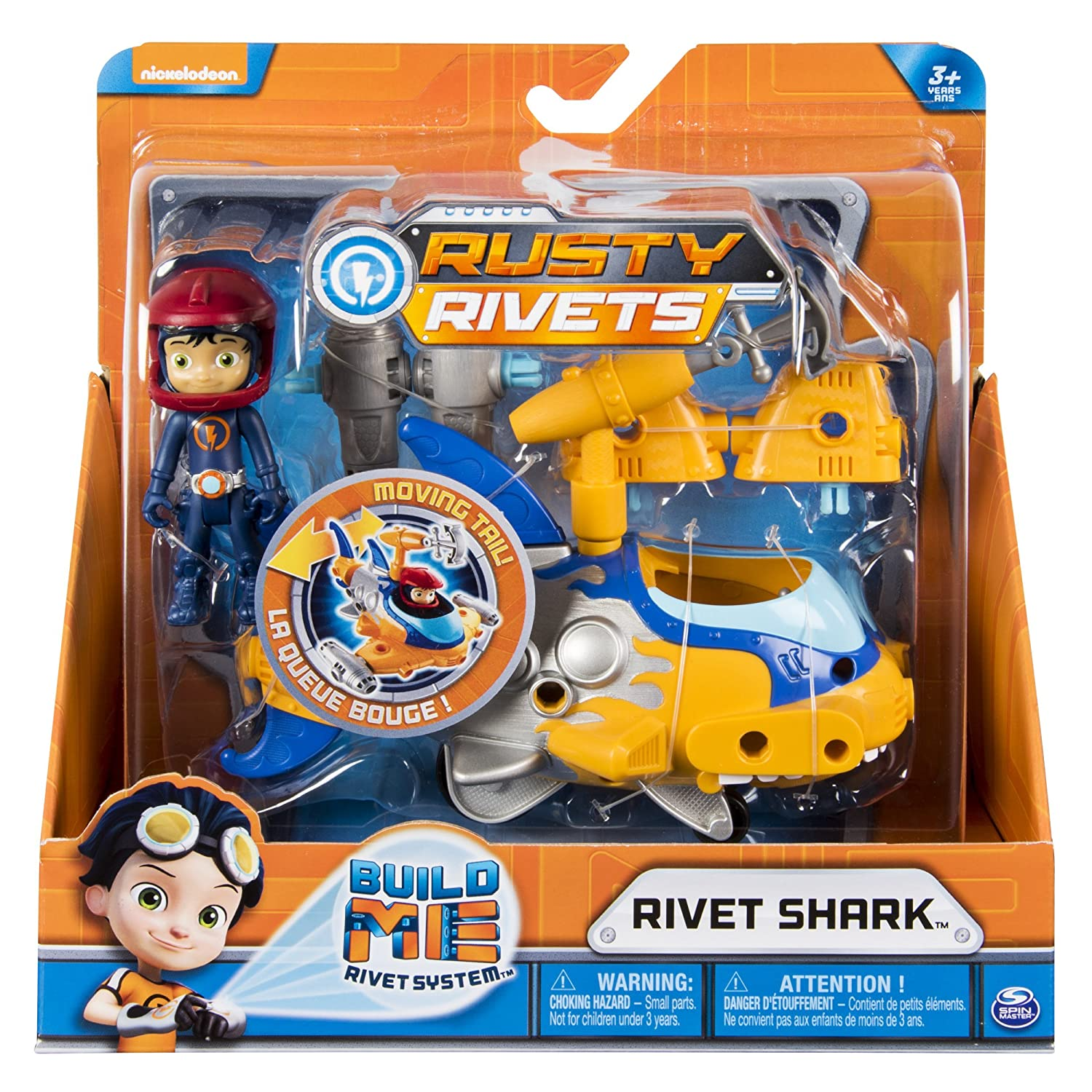 Rusty Rivets 20101269-6046696 Buildable Rivet Shark Vehicle with Figure for Ages 3 and Up
