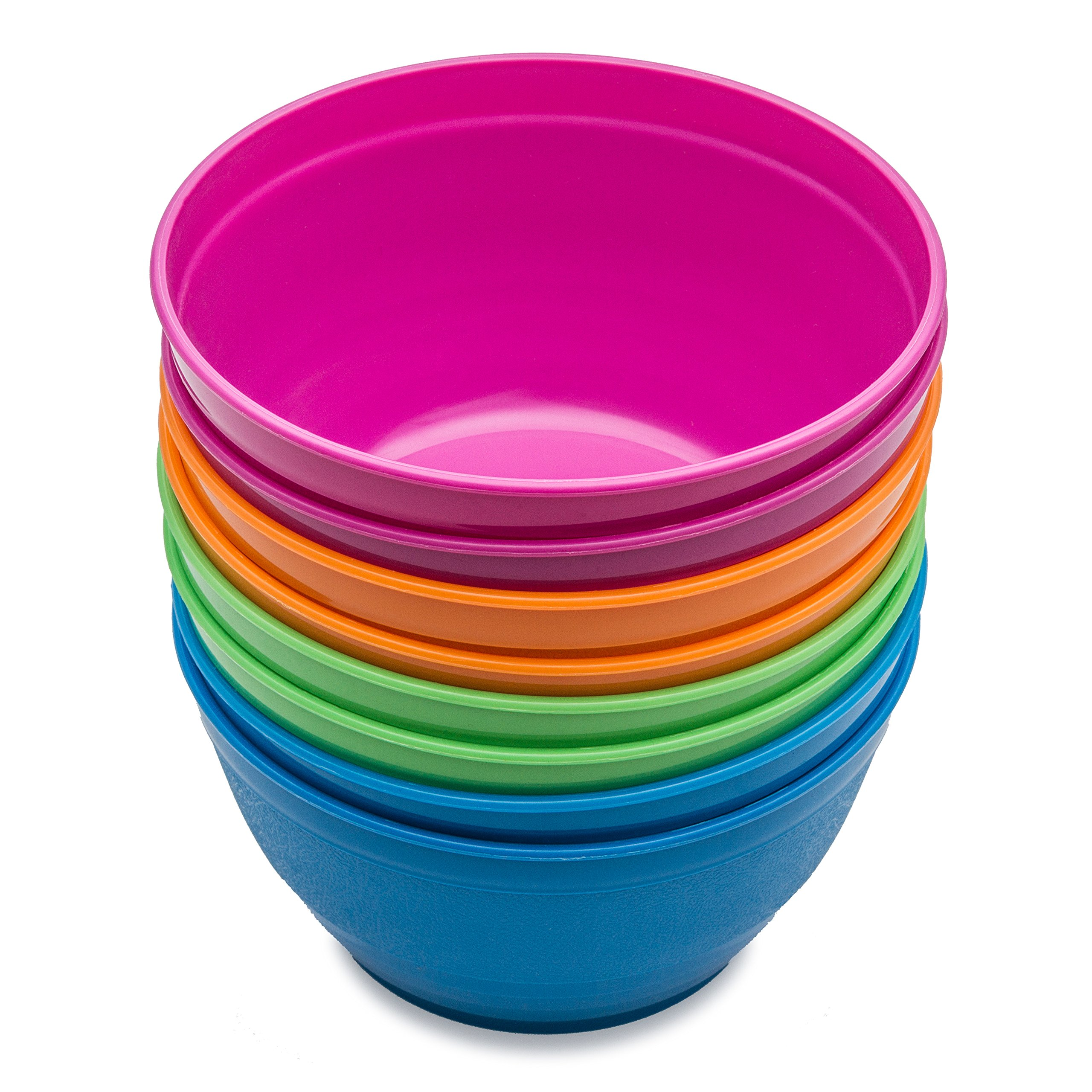 Cereal bowls, Soup bowls, Snack bowls, Noodle bowls, Kids bowls, Toddlers bowls, College Students bowls, 8 pieces Assorted Colours by iVolo