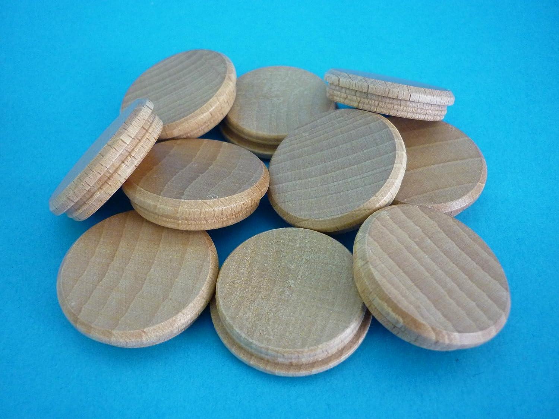 1 Packung Holzabdeckkappen 7030 Buche natur 30 mm