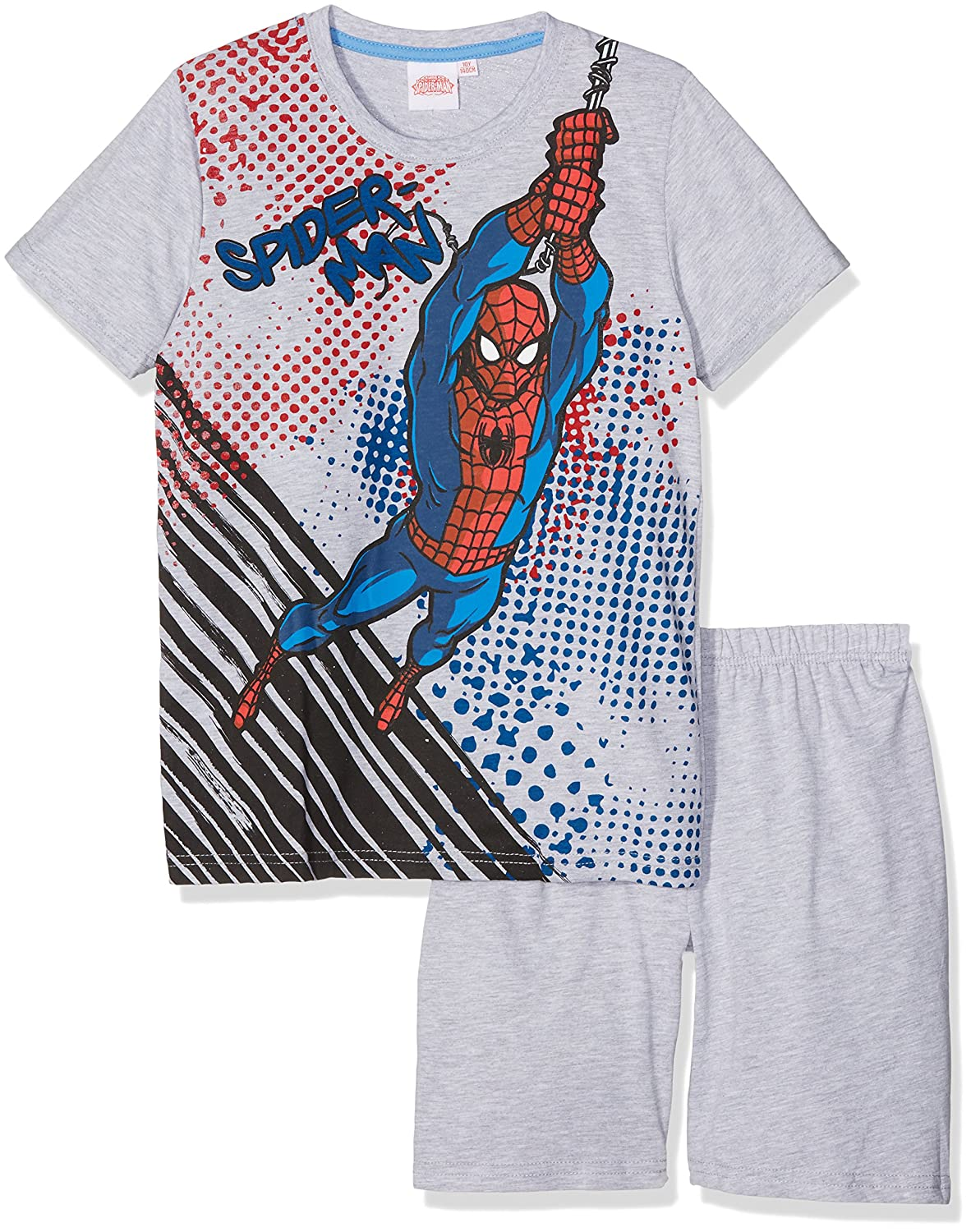 Grey Spider-Man Boys Short Sleeve Pyjama