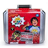 Ryan's World Secret Agent Mystery Mission Case, Spy Case, 3 Exclusive Spy Figures, 2 Wrist Communicators, Flashlight…
