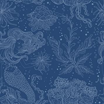 Wallsbyme Peel And Stick Blue Nautical Fabric Removable Wallpaper 5660 2ft X 8 5ft 61x260cm Amazon Com
