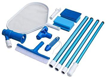 Steinbach - Juego de accesorios básicos para la limpieza de piscinas (aspiradora para el suelo de la ...