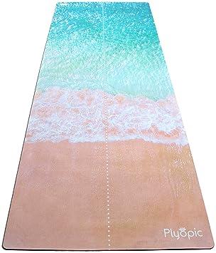 Plyopic Esterilla de Yoga | Antideslizante Colchoneta/Toalla de Lujo. Natural y Ecológica |