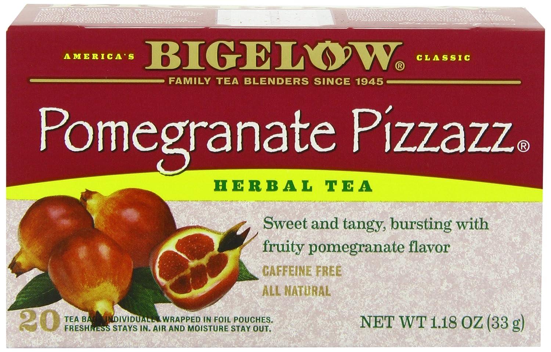 Bigelow herbal tea - Amazon Com Bigelow Pomegranate Pizzazz Herbal Tea 20 Count Boxes Pack Of 6 Green Teas Grocery Gourmet Food