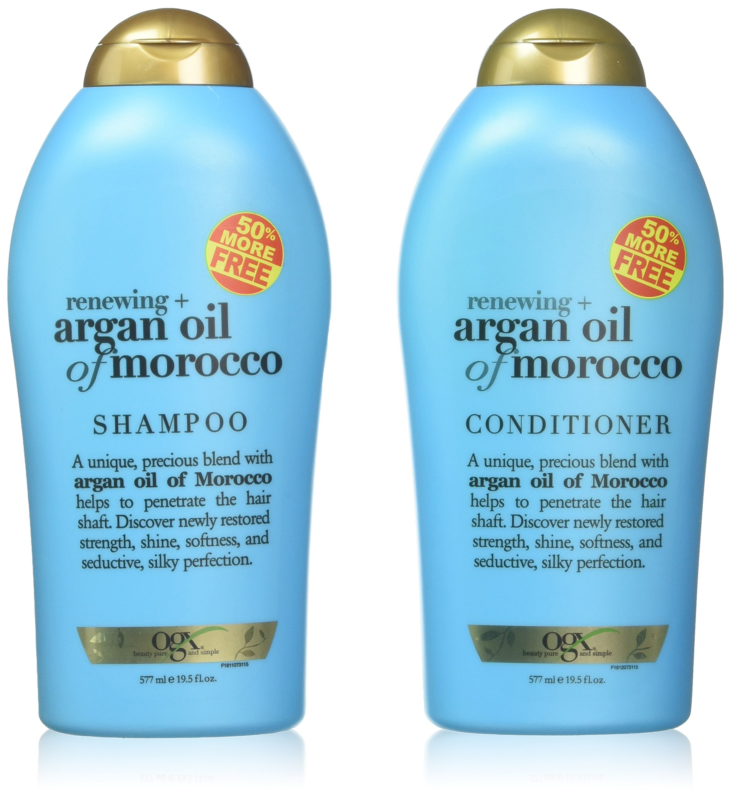 OGX Organix Argan Oil of Morocco Shampoo & Conditioner Set (19.5 Oz Set) by OGX
