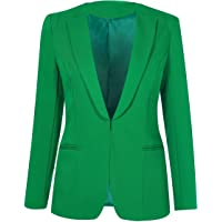 SHUIANGRAN Womens Slim Fit Casual Work Office Business Blazers One Button Jacket