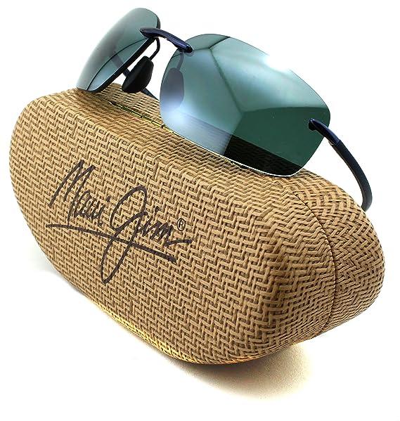 404a0f65a2f2 Maui Jim Kupuna Unisex Polarized Sunglasses (Blue Frame, Neutral Grey Lens  742-06