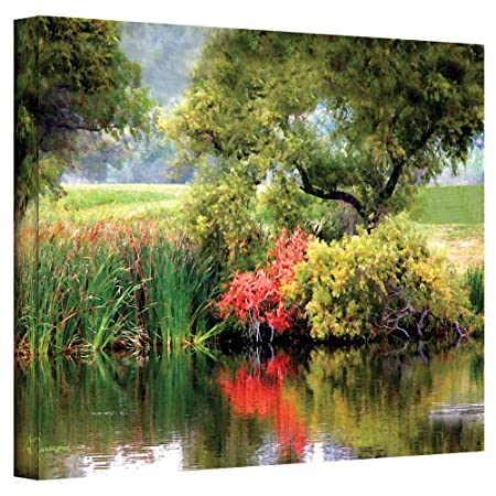 The Art Wall 14 by 18-Inch Santee Lakes Wrapped Canvas by George Zucconi