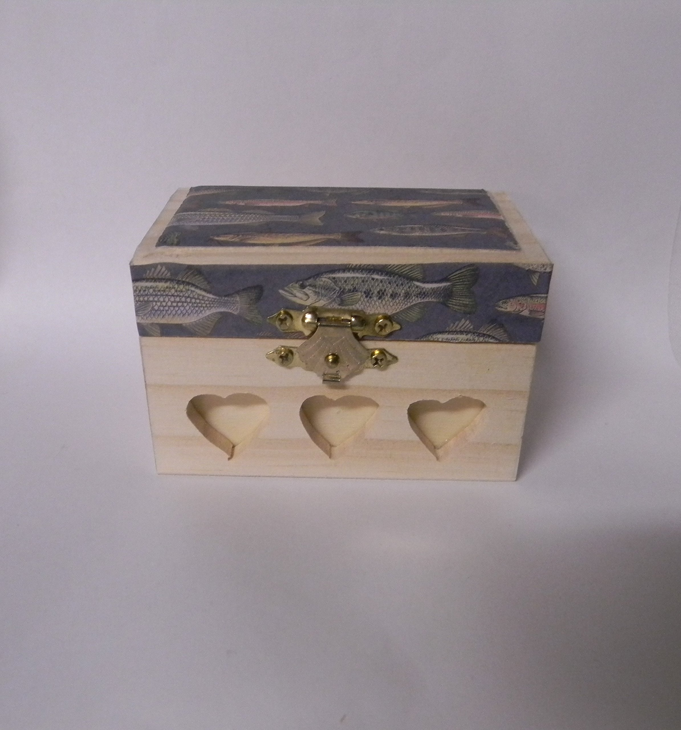 Wedding ceremony Party Ring bearer Pillow Box Hold Rings Fishing Design
