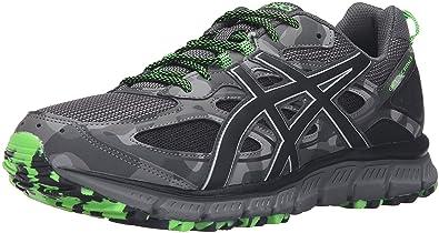 ASICS Men's Gel-Scram 3 Trail Runner, Carbon/Black/Green Gecko,