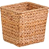 Honey-Can-Do STO-02886 Square Water Hyacinth basket, Medium, 10.5 L x 10.5 W x 10.5 H