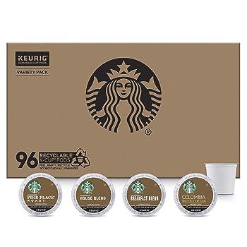 Starbucks Medium Roast 4 Flavors K-Cup