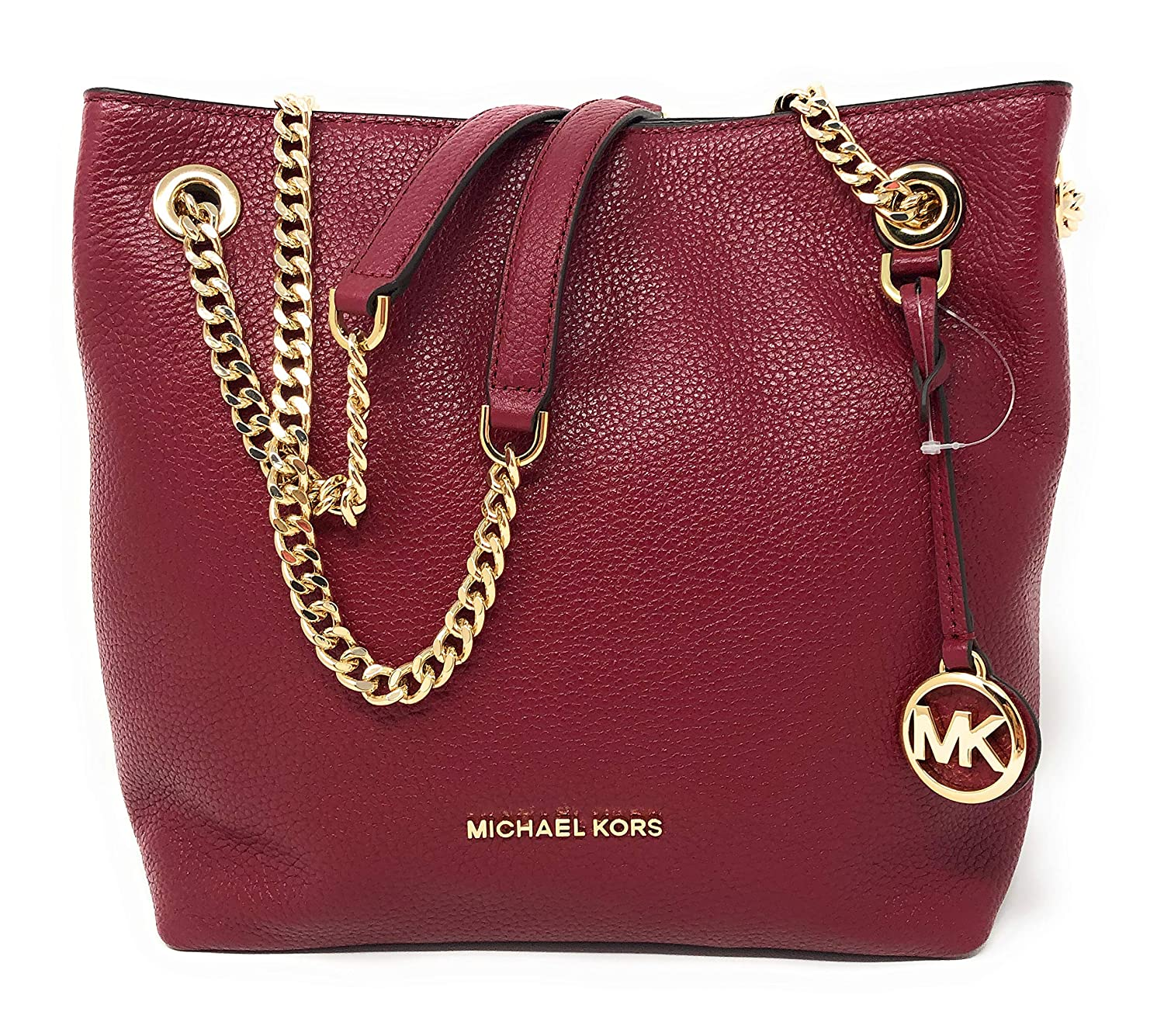 Amazon.com  Michael Kors Jet Set Chain Medium Leather Shoulder Tote Bag in  Mulberry  Clothing e1000464bf9e9