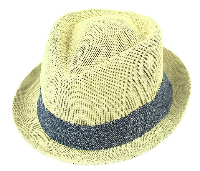 b6894fef3fc PASKMINA Women Straw Fedora Hat,Men Straw Fedora Hat, Trilby Cuban Cap  Summer Beach