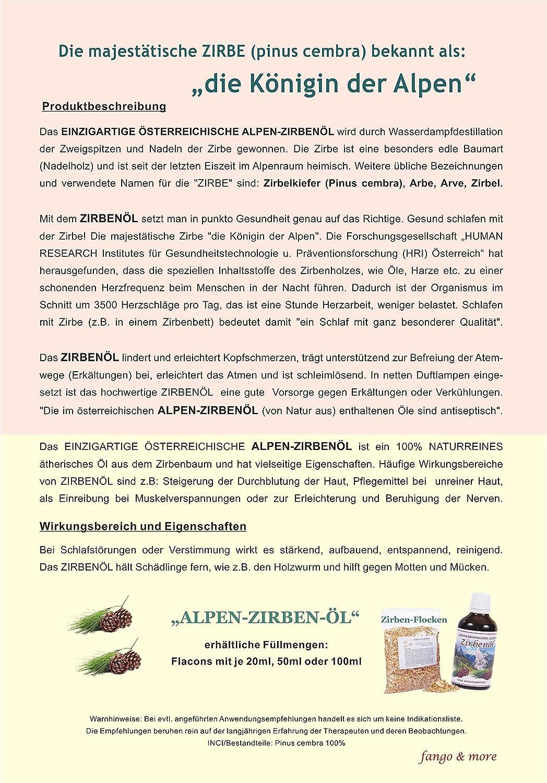 Alpen Zirbenöl 100 Ml Naturrein 100 Bestes Zirbenöl Amazonde