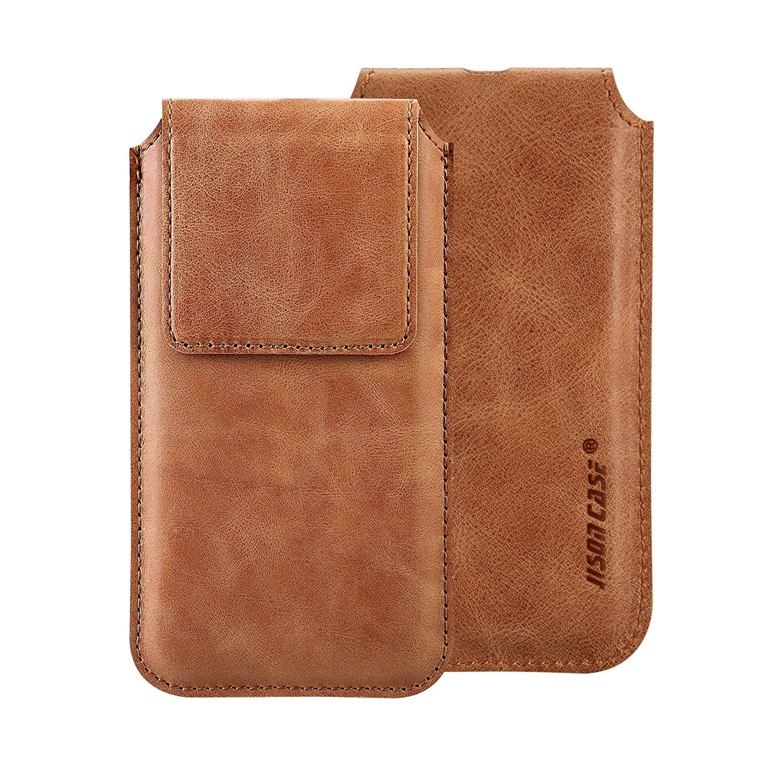 iPhone X Leather Case Sleeve TOOVREN Genuine Leather Protective Ultra Rugged Holster Phone Pouch Carrying Bag for Apple iPhone X/10 (2017) Brown by TOOVREN (Image #5)