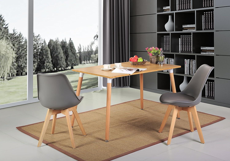 Pack de 4 tulip comedor silla de oficina pierna de madera for Sillas de oficina de madera