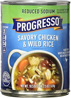 Progresso Soup, Reduced Sodium, Chicken and Wild Rice Soup, 18.5 oz Cans (