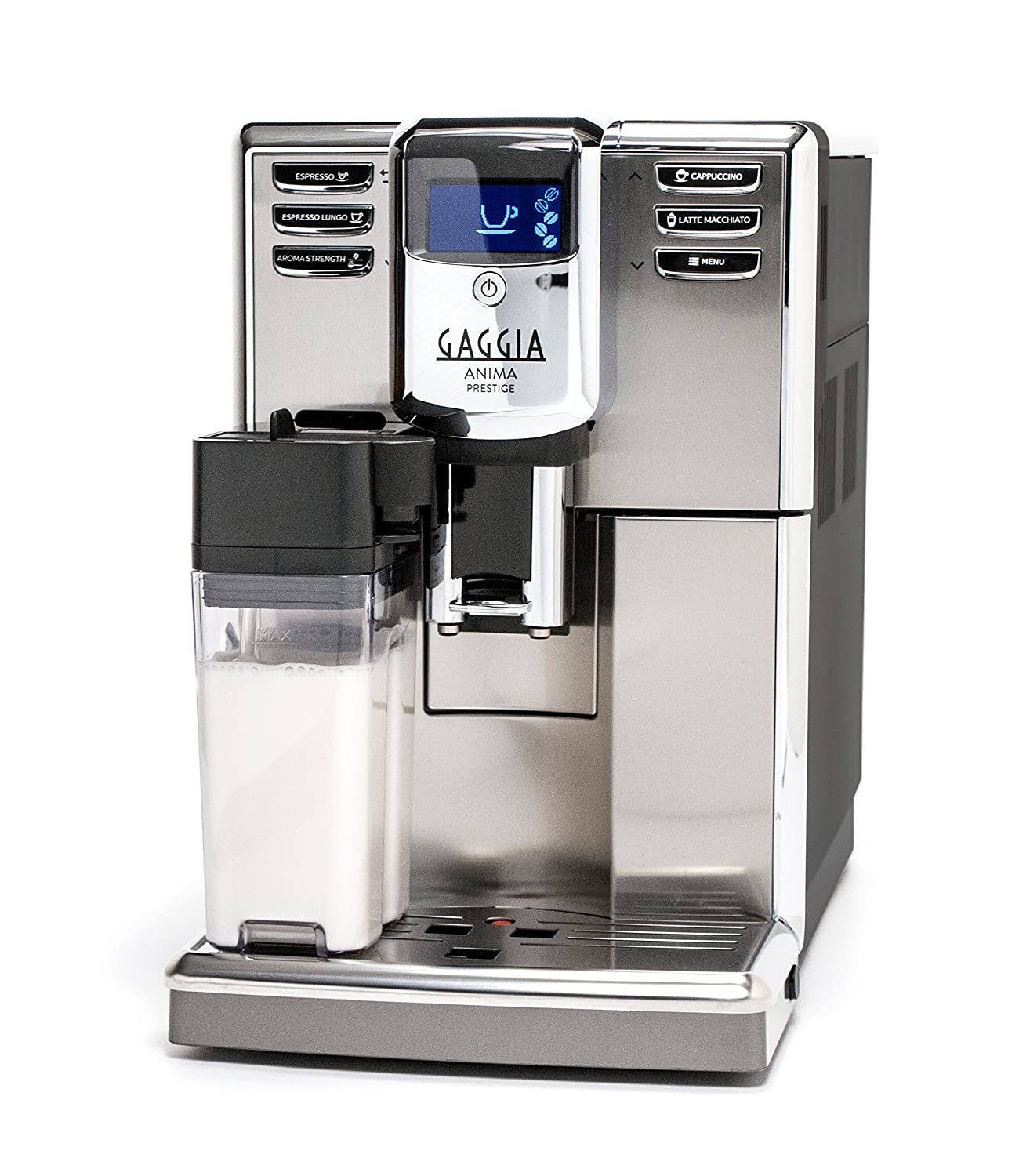 Amazon.com: Gaggia Anima Prestige Automatic Coffee Machine, Super Automatic  Frothing for Latte, Macchiato, Cappuccino and Espresso Drinks with  Programmable ...