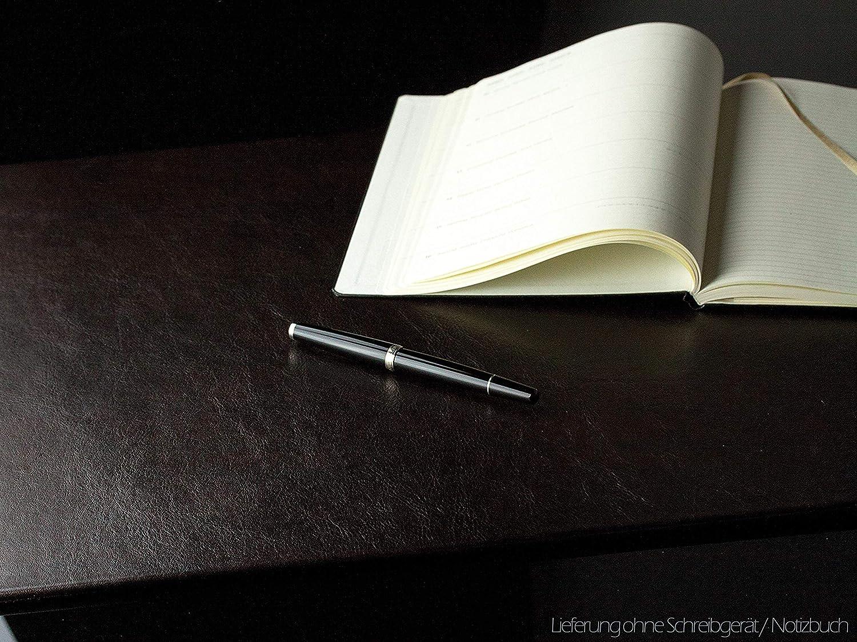 Porte-lettres en cuir de premi/ère qualit/éAnilin brun organiseur de bureau avec incrustation m/étallique pour le rangement de lettres DELMON VARONE documents et brochures