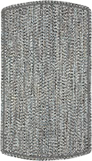 product image for Capel Rugs St. Johnsbury Vertical Stripe Rectangle Braided Area Rug, 8' x 11', Darkest Black