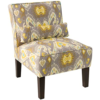 Superieur Unique Skyline Furniture Multicolored Upholstered Armless Chair In Blue