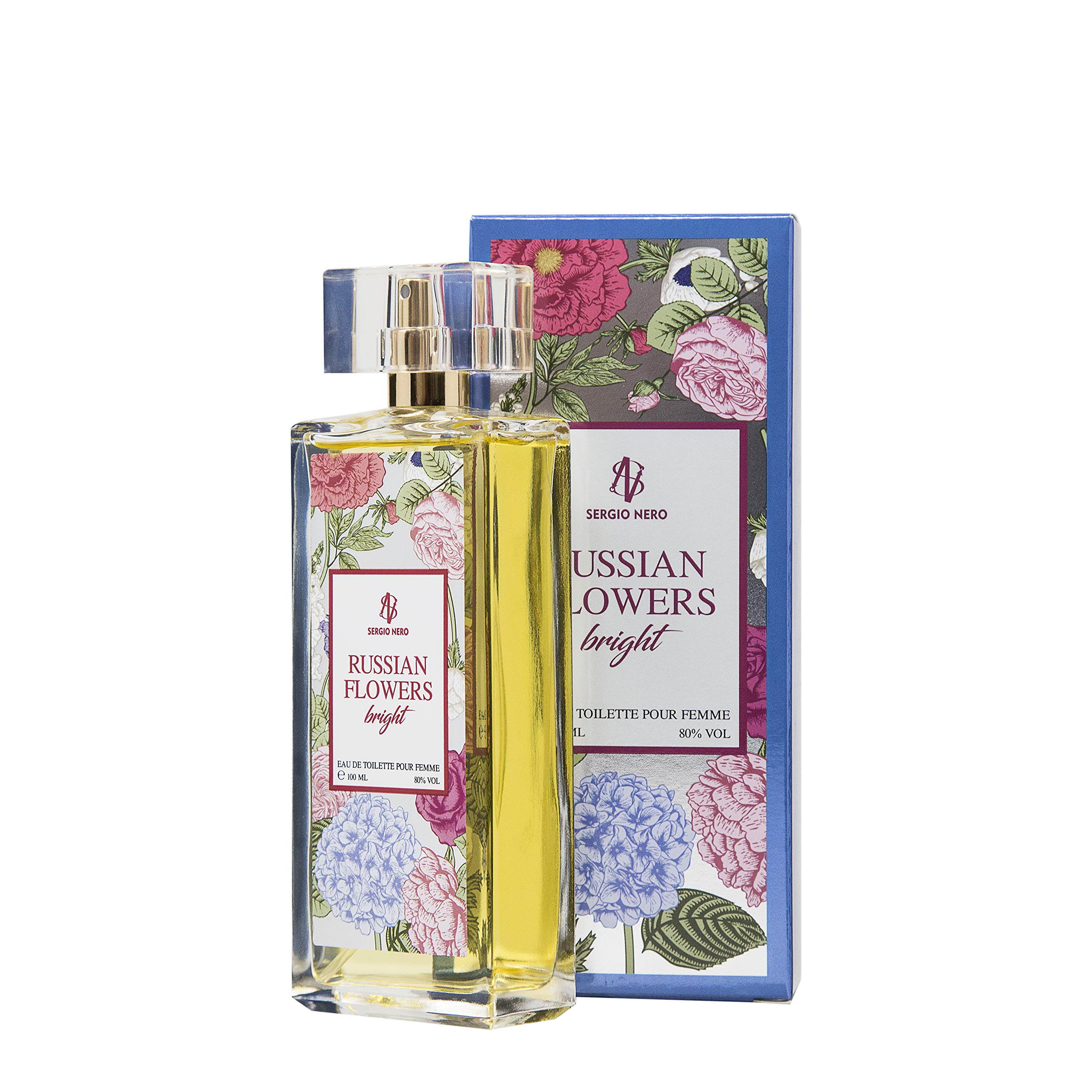 RUSSIAN FLOWERS Eau de Toilette for Women, 100 ml - NEW Floral Fragrance for Her (BRIGHT)