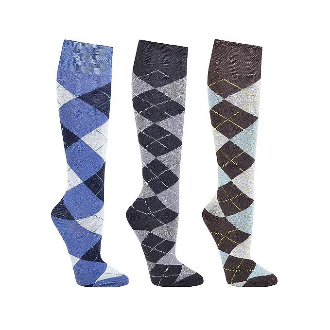 ch-home-design 3 paia di calze al ginocchio al ginocchio COMPUTER  karo   equitazione di calze al ginocchio per adolescenti e donne  Amazon.it   Scarpe e ... 1c29c859e7f