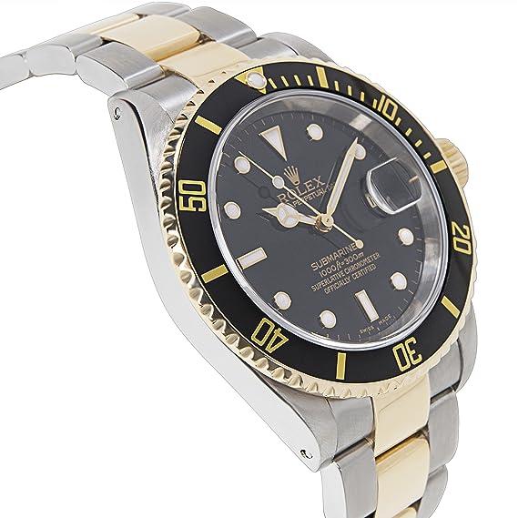 Rolex Submariner 16613 Hombres del reloj en 18 K de oro amarillo y acero inoxidable (Certificado) de segunda mano: Rolex: Amazon.es: Relojes