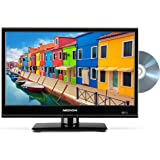 MEDION P12309 47 cm (18,5 Zoll HD) Fernseher (Triple Tuner, DVB-T2 HD, HDMI, USB, CI+, DVD-Player, KFZ Car-Adapter) Schwarz