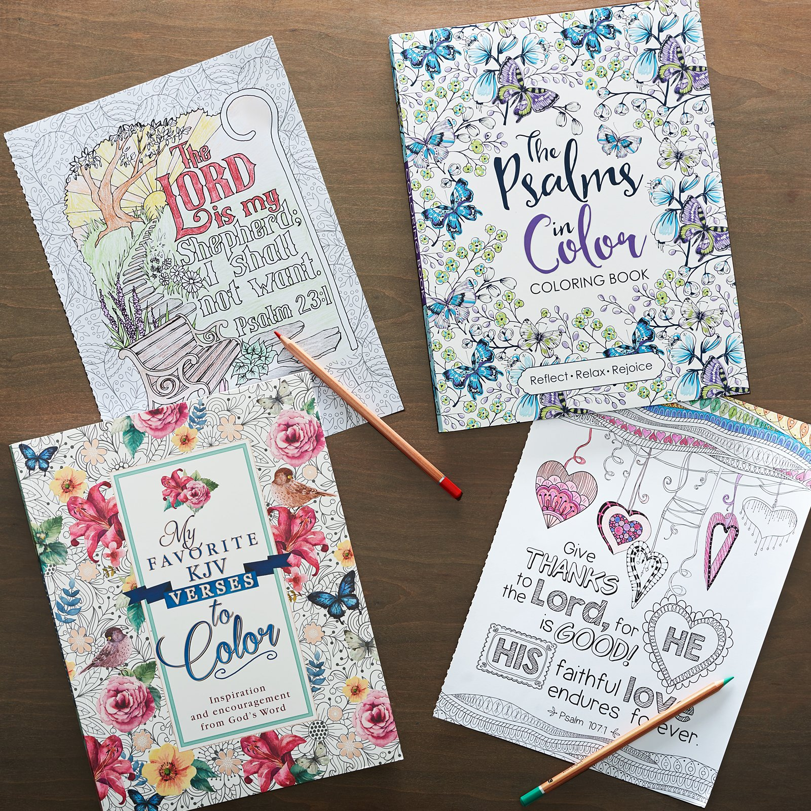 PSALMS IN COLOR ADULT COLORING BOOK Amazonca Art Gift Christian Books