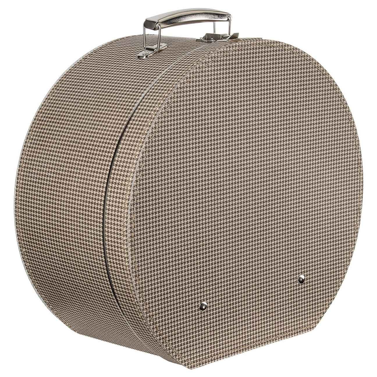 Lierys Caja para Sombrero Pata de Gallo Mujer/Hombre - Made in The EU sombrerera Verano/Invierno
