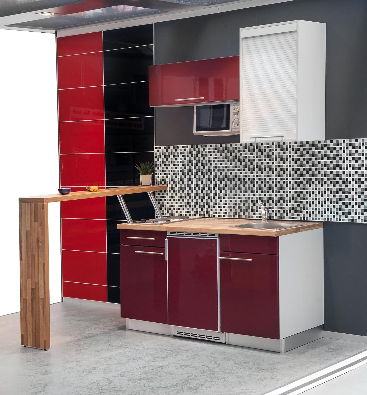Mebasa MCFT220SR Einbauküche, Moderne Miniküche, Singleküche ...