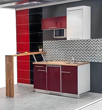 Mebasa MCFT220SR Einbauküche, Moderne Miniküche, Singleküche ... | {Singleküche 40}