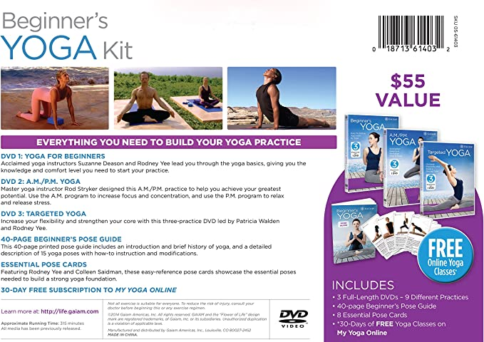 Amazon.com: Gaiam Yoga Beginners DVD Kit: Artist Not ...