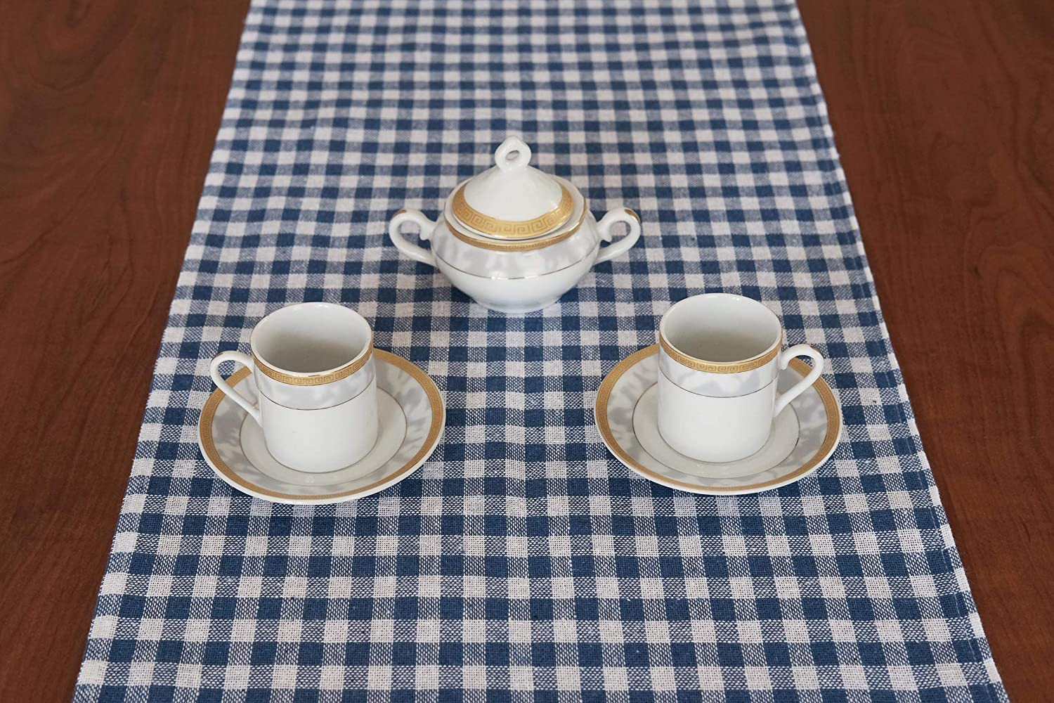 Black, 13x68 inches Madame Gayda Table Runner Buffalo Check Cotton Family Dinners Gatherings Indoor Outdoor Parties Everyday Use Black /& White