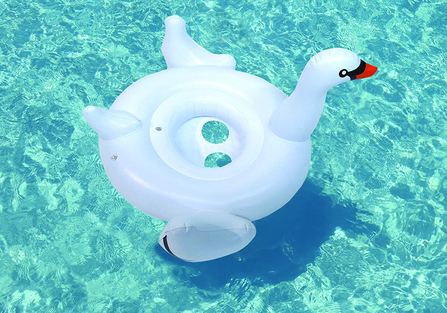 Swimline Kids Baby Inflatable Swan Swimming Pool Water Toy Seat Float98400