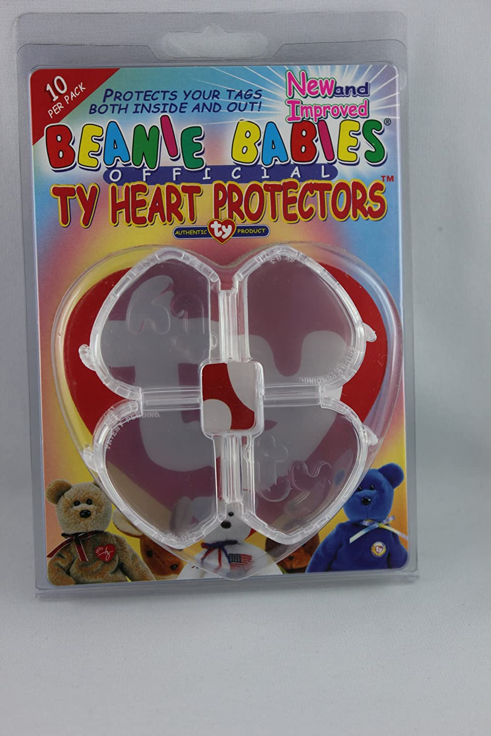 Ty Beanie Babies Heart Tag Protector - Pack of 10