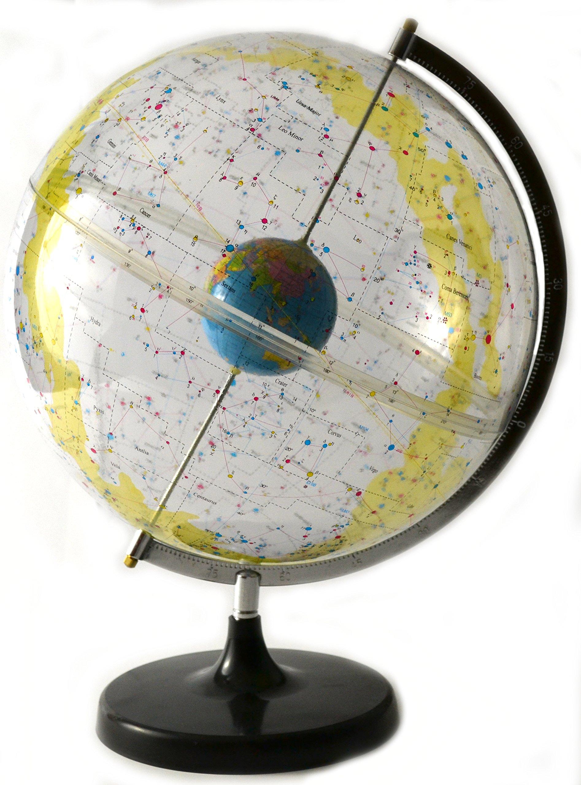 17.5'' Tall Eisco Labs Celestial Star Globe - 12'' Globe Diameter