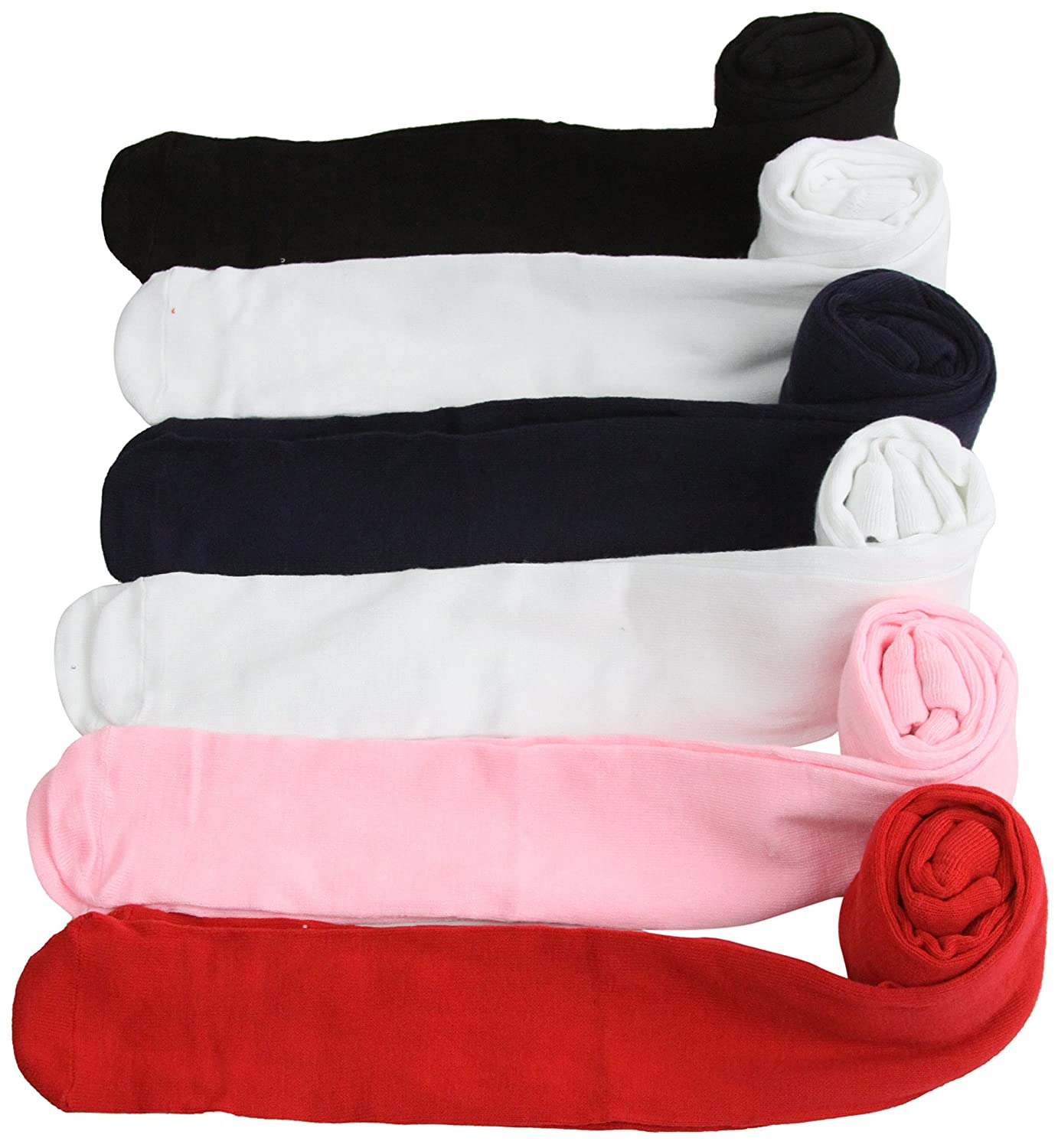 ToBeInStyle Girls Pack of 6 Assorted Design Winter Tights