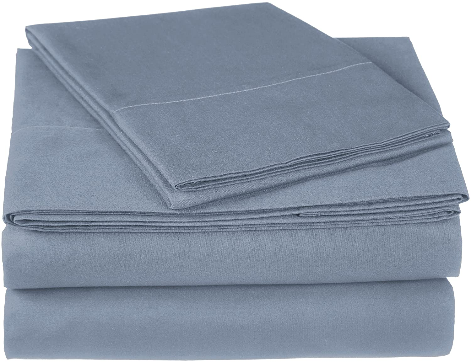 Pinzon 300 Thread Count Ultra Soft Cotton Sheet Set -Twin, Dusty Blue
