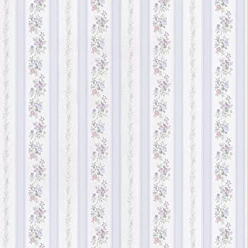 brewster princess light blue floral stripe wallpaper