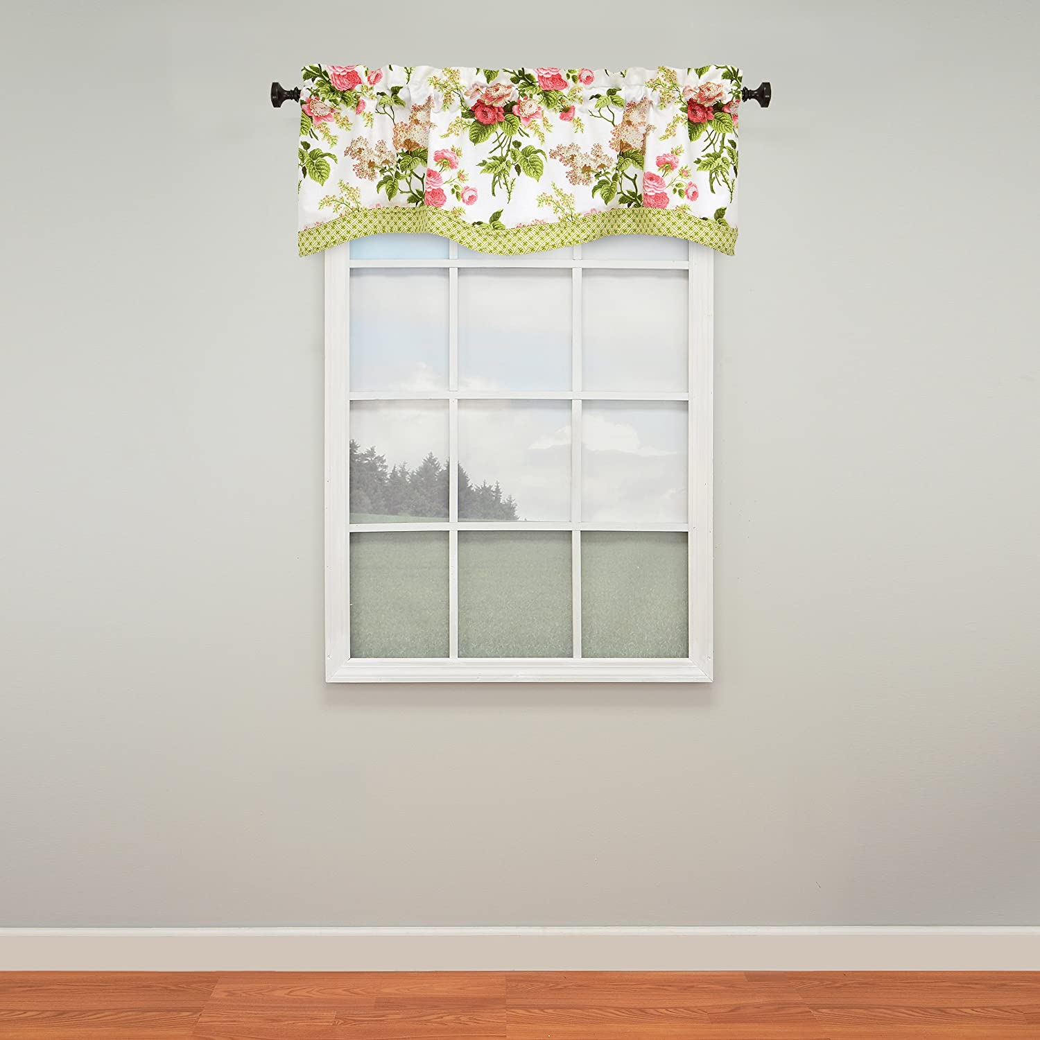 WAVERLY Emma's Garden Window Valance, 52x18, Blossom