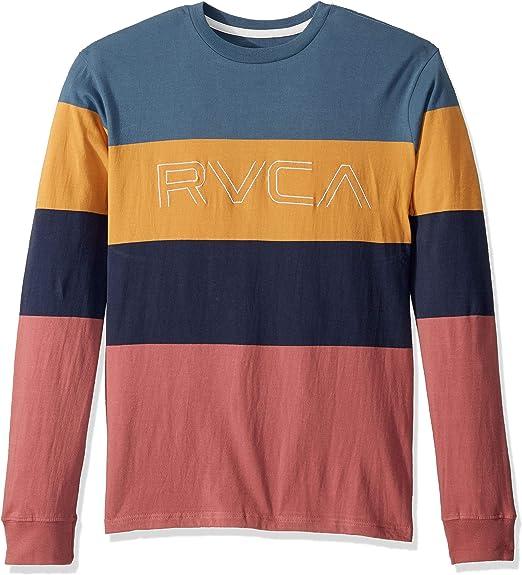 RVCA NEW Men/'s Shifty Long Sleeve Crew T-Shirt Red BNWT