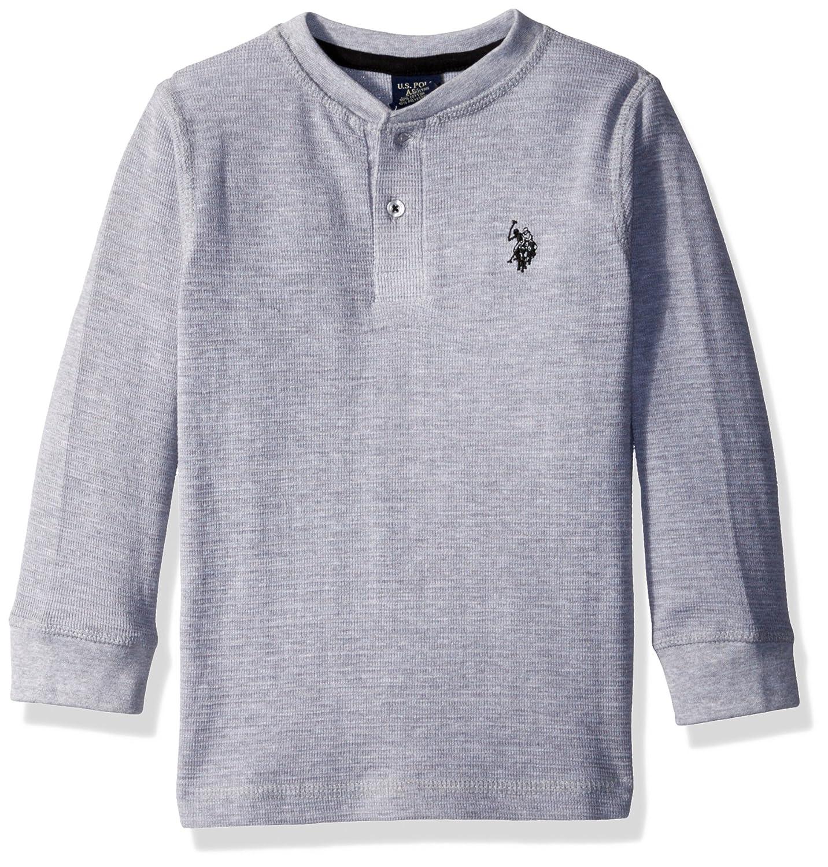 Big Boy/'s Long Sleeve Tee Shirt With Pullover Hoodie Polo Assn U.S