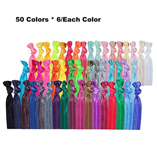 300 Pack No Crease Hair Ties Hair Ponytail Holders Elastic Styling Accessories Ribbon Bands by HBY