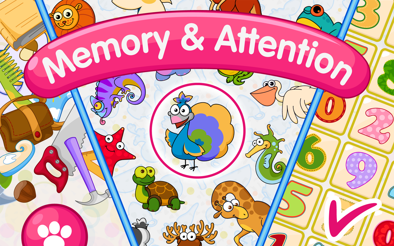 Memory and Attention Lite: 6 educational games for 4-7 year olds ...